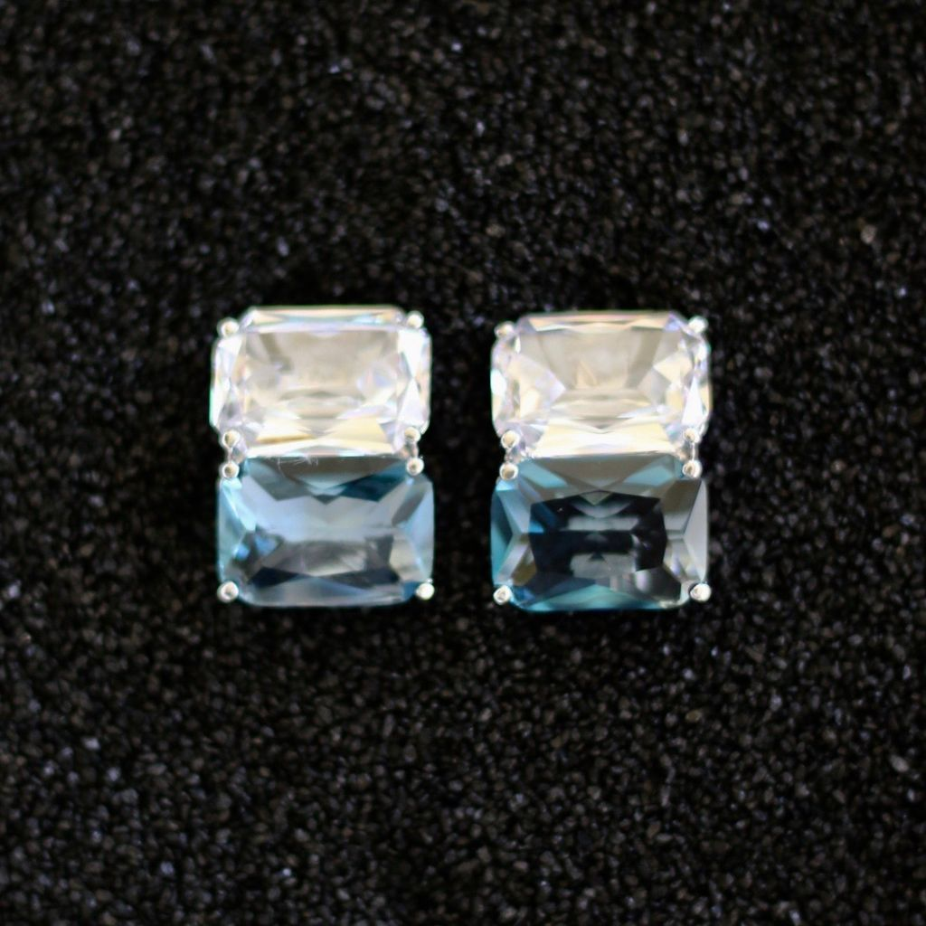 Jewelry Jardin: Clear & Aqua Double Stack