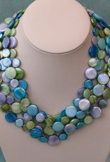 Jewelry VCExclusives: Chimes Glass Beads Blues/Greens