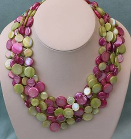 Jewelry VCExclusives: Chimes Glass Beads Multi Pastel Rose / Greens