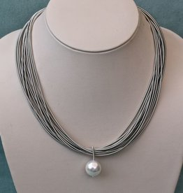 Jewelry VCExclusives: Single Pearl Drop With  Grey