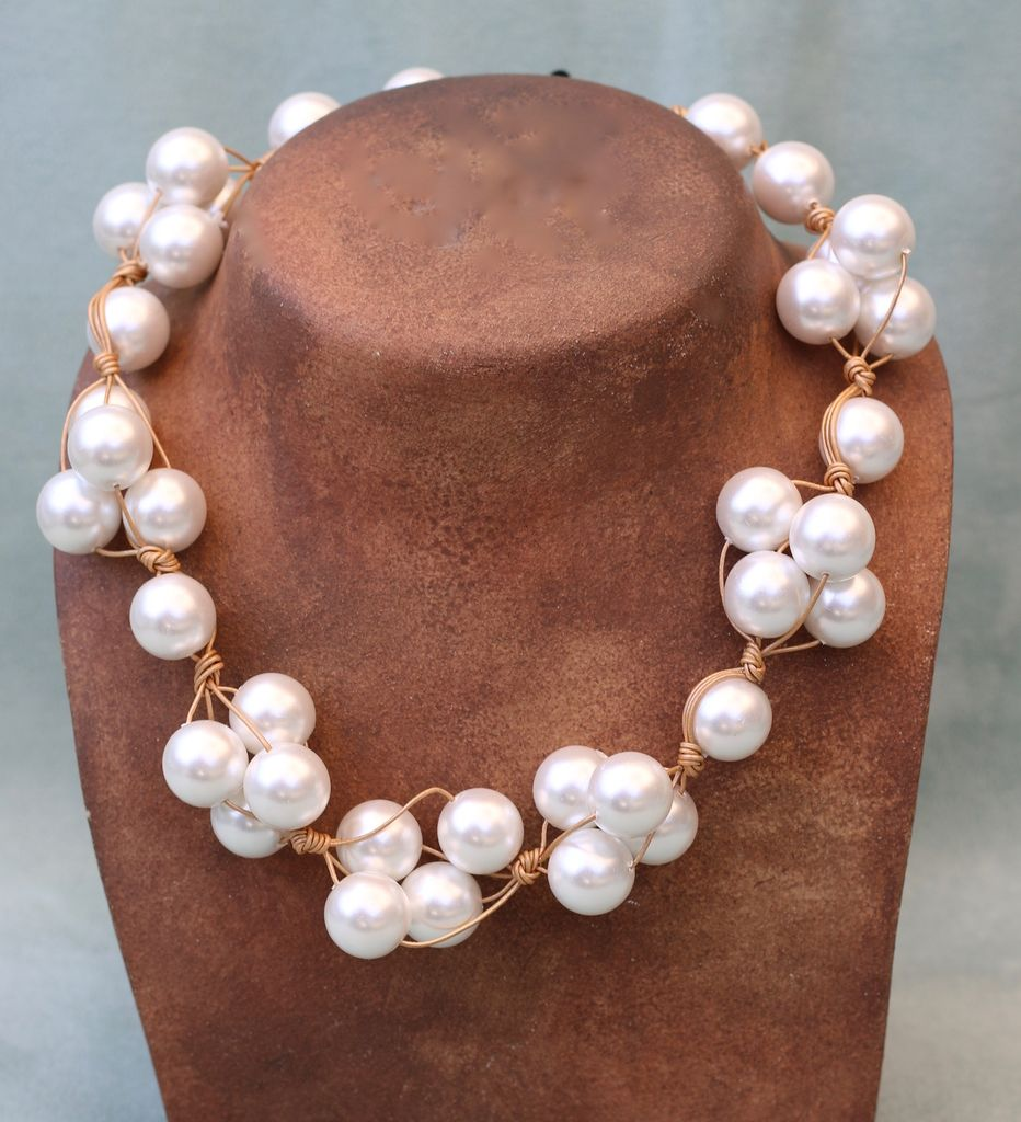 Jewelry VCExclusives: White Pearl on Gold Cord