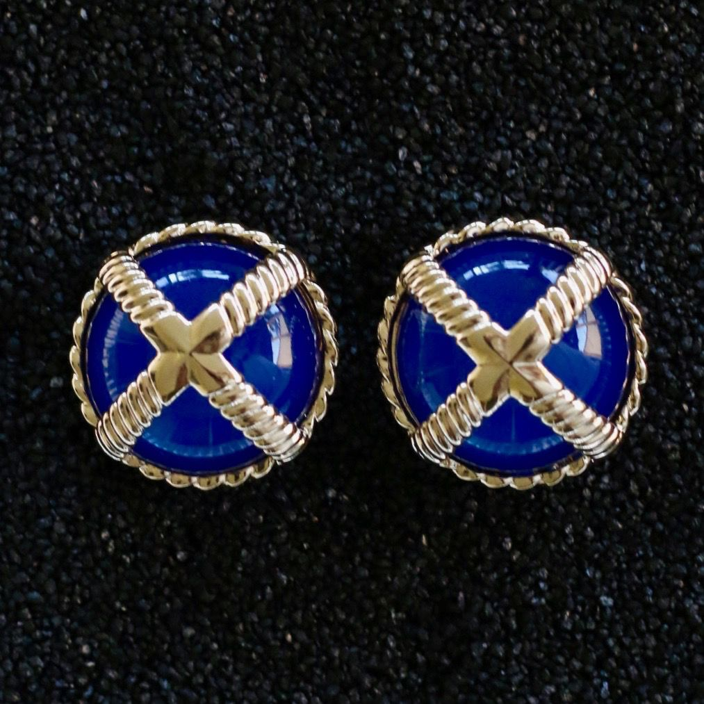 Jewelry VCExclusives: Cross Button Dark Blue