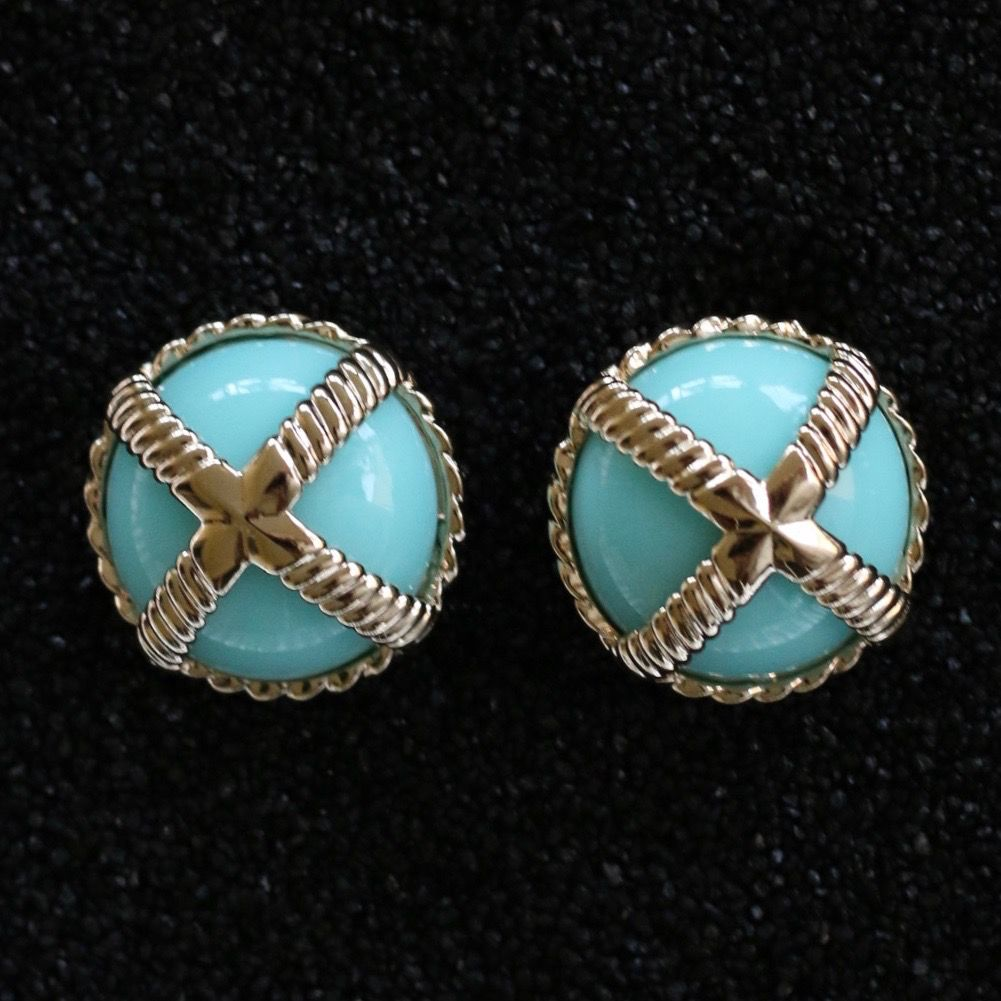 Jewelry VCExclusives: Cross Button Turquois