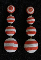 Jewelry KJLane: Lucille Balls / Coral and White