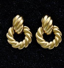 Jewelry KJLane: Door Knocker Twisted Satin Gold