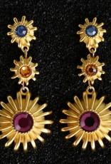 Jewelry KJLane: Multi Colored Drop Pierced