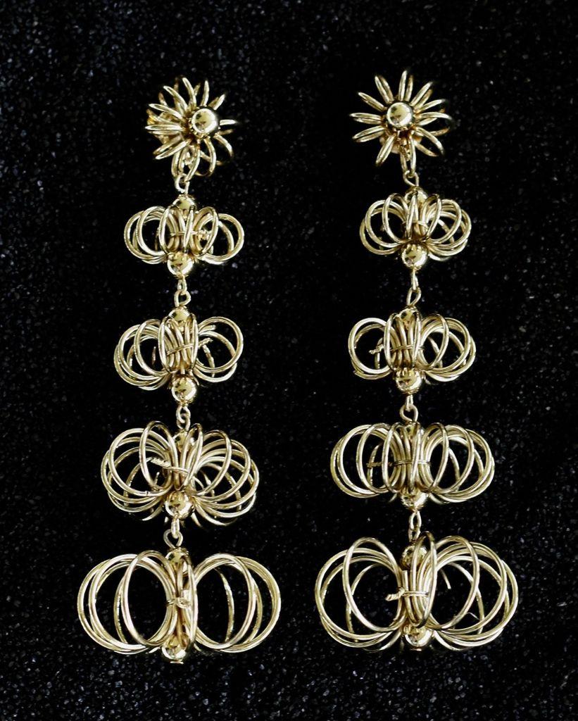 Jewelry KJLane: 60's Wire Drop Pierced