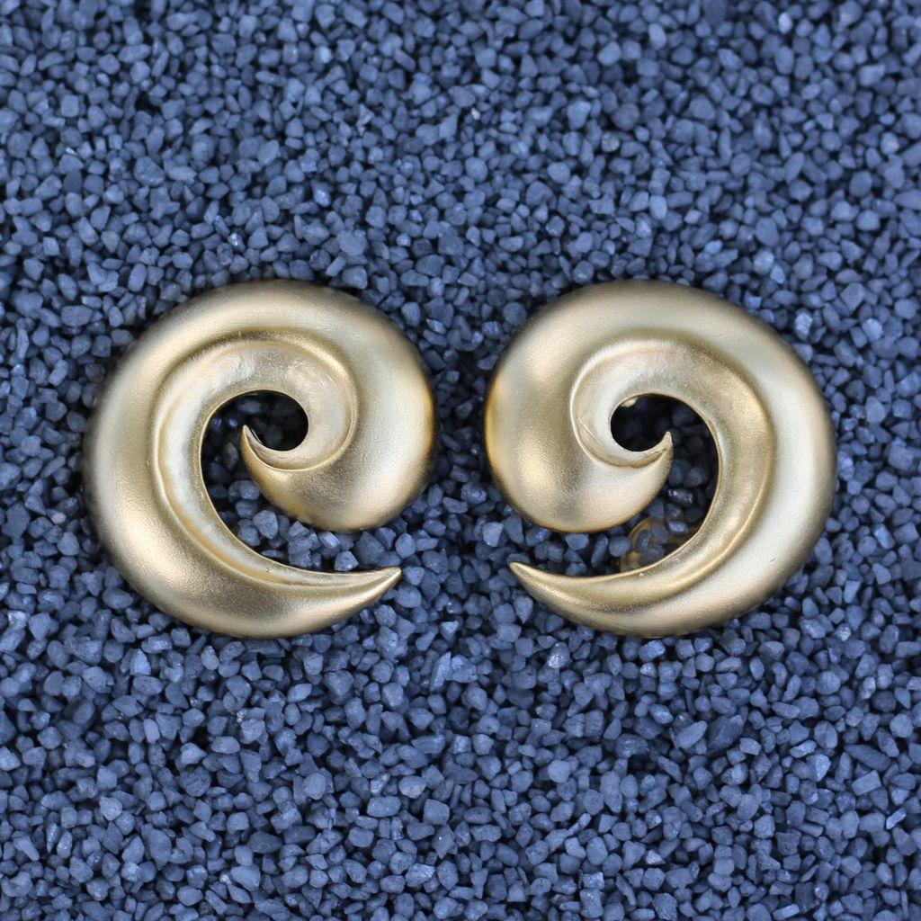 Jewelry KJLane: Swirl Satin Gold