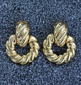 Jewelry KJLane: Door Knocker Twisted Polished Gold
