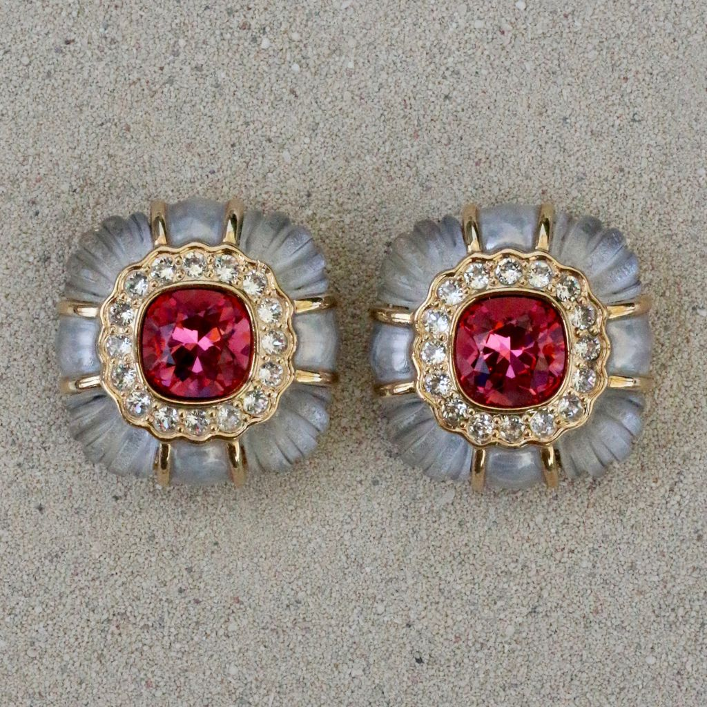 Jewelry VCExclusives: Agnes Topaz Pink Light Grey