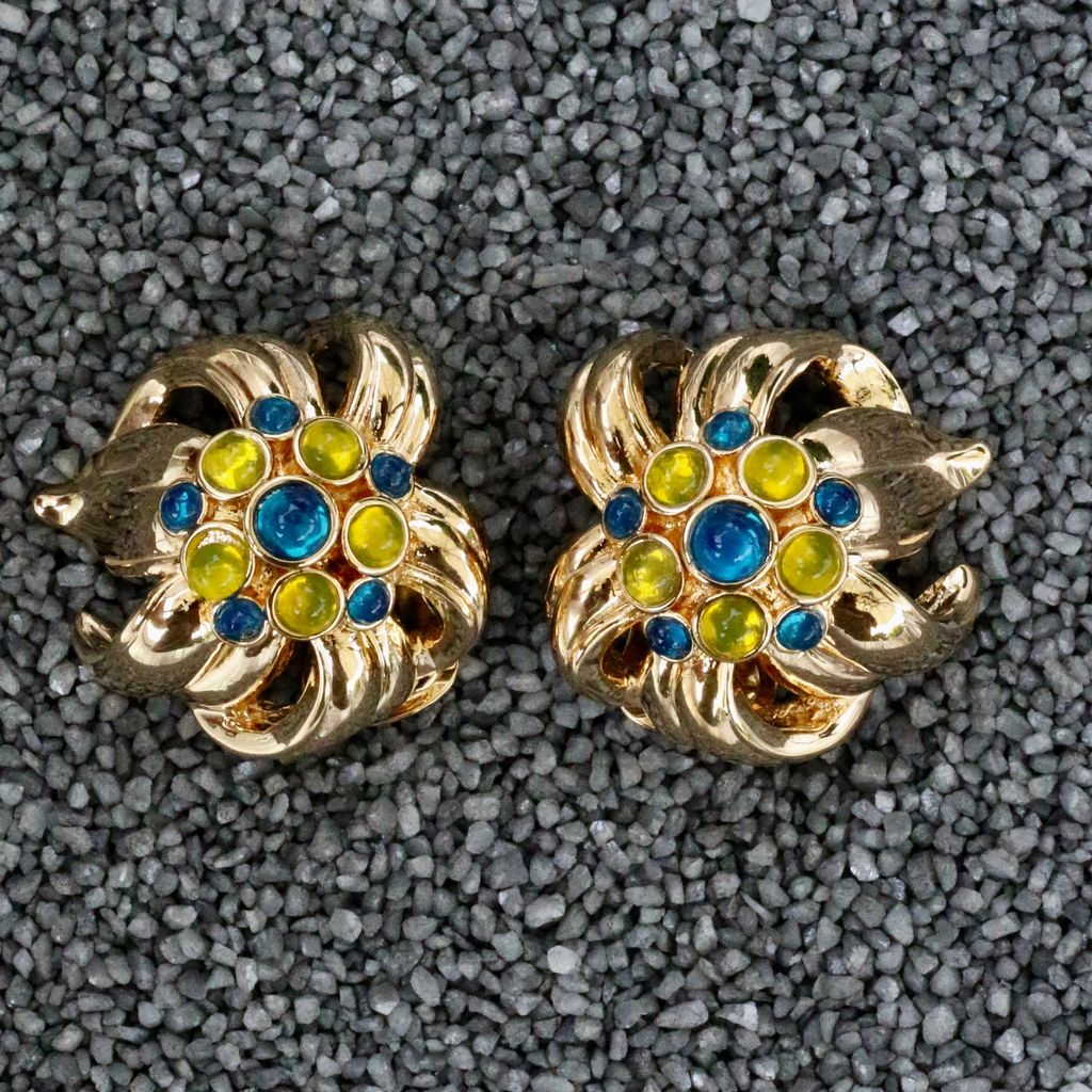 jewelry VCExclusives: Audrey Blue and Yellow with Gold