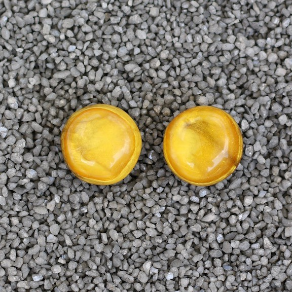 Jewelry Denaive:  Agnes Spruce Light Amber Pierced
