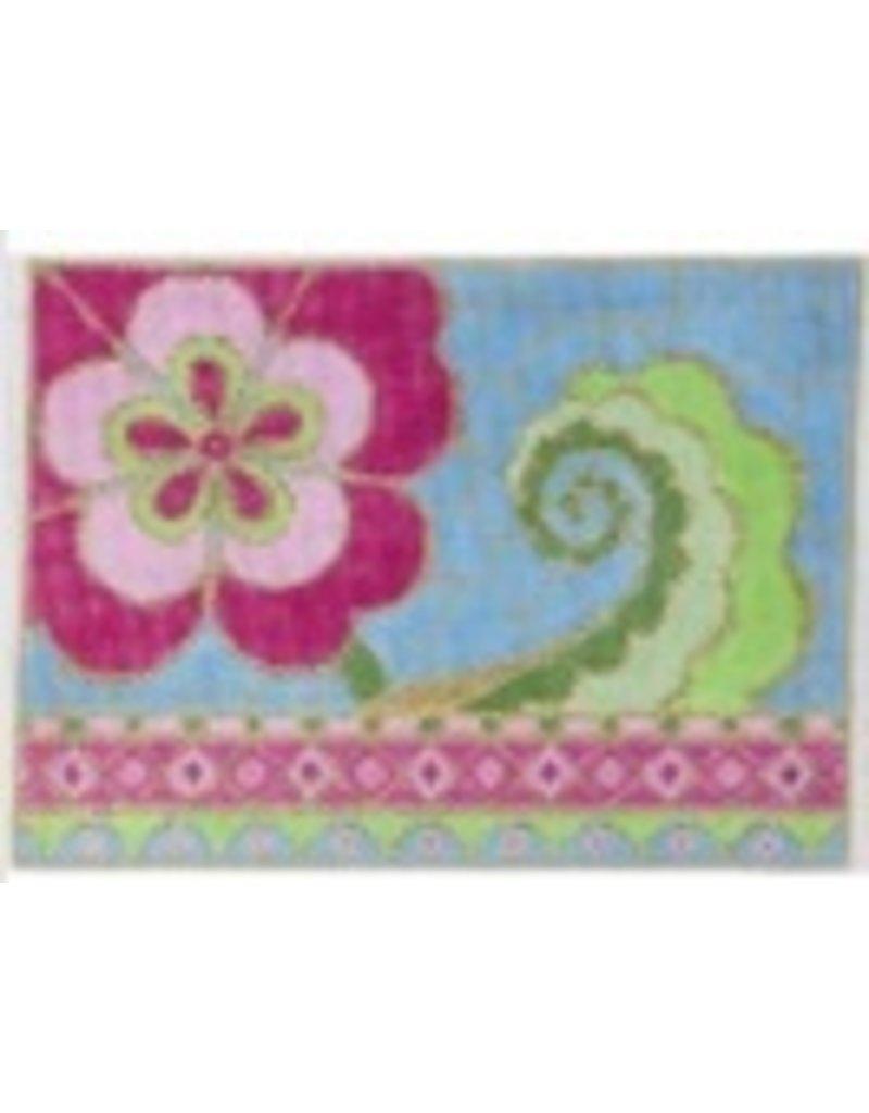 Alice Peterson Pink Tourquoise Floral<br />9&quot;x7&quot;
