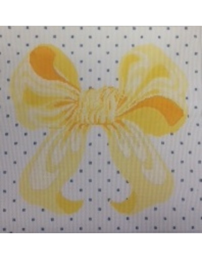 All About Stitching Yellow Bow<br />12&quot;x12&quot;