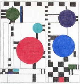 BB Needlepoint Design Red, White, Blue &amp; Black Quilt<br />