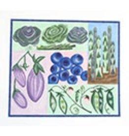 BB Needlepoint Design Veggie Garden<br />10&quot;x8&quot;