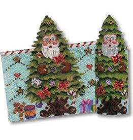 Dragon Tale Santa as a tree  roll ornament