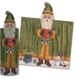 Dragon Tale Santa in green  coat roll