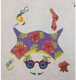 Julie Pischke Sunworshipper frog - beanbag