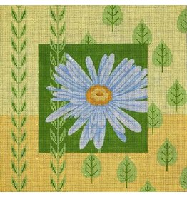 JP Needlepoint Daisy with yellow border<br />