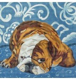 "Barbara Russell Bulldog 10""x10"""
