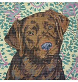 Barbara Russell Chocolate Lab<br />12&quot;x12&quot;