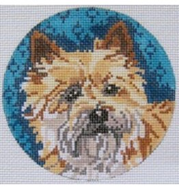 Barbara Russell Cairn Terrier<br />4&quot; diameter