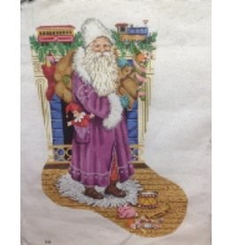 Gayla Eliott Designs Santa in purple coat