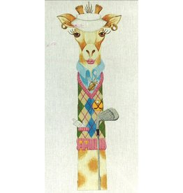 J. Nichols Lady golfer giraffe