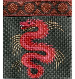JP Needlepoint Purse - black with red dragon