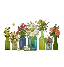 "Melissa Shirley Fresh Cut Bottle Bouquets 18""x10"" - Stitch Guide included"
