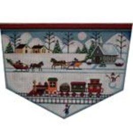 Rebecca Wood Stocking topper- Christmas scene