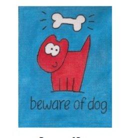 Stitch-It Beward of the Dog<br />9.5&quot;x7&gt;5&quot;