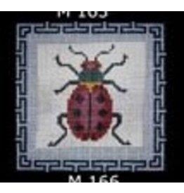 JP Needlepoint Beetle 6 - Red Ladybug