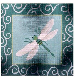 JP Needlepoint Tourquoise Dragonfly Patch<br />