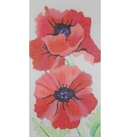 Julie Mar Red Poppies  Eye Glass Case<br />3.5&quot;x6.5&quot;