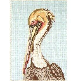 Needle Crossing Pelican<br />6&quot;x9&quot; 13 Mesh
