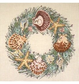 Needle Crossing Shell Wreath