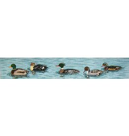 Needle Crossing Swimming Ducks<br />
