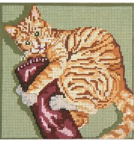 Needle Crossing Playful Kitty<br />