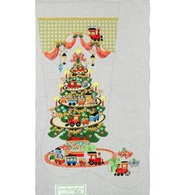 Strictly Christmas Tree with train stocking