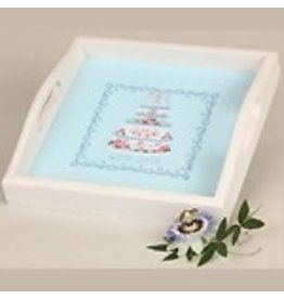Sudberry House Square tray whitewash<br />9 1/2&quot; x 9 1/2&quot;