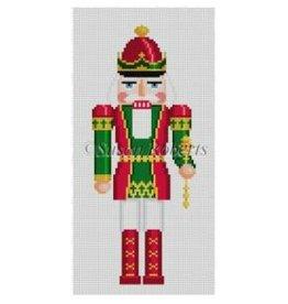 "Susan Roberts Red & Green King nutcracker 6"" high - ornament"