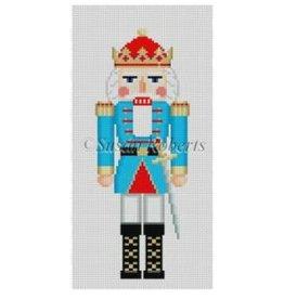 """Susan Roberts Aqua King nutcracker 6"""" high - ornament"""