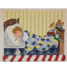 A Bradley Christmas Scene - Little Boy Sleeping - Stocking Topper