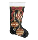 Alice Peterson Burgundy ornament stocking<br />
