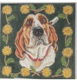 Alice Peterson Bassett  hound<br />
