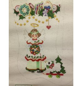 Strictly Christmas Angel holding wreath stocking<br />
