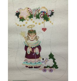 Strictly Christmas Angel holding Star Stocking<br />