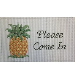 Susan Roberts Pineapple &quot;Please Come In&quot; sign<br />